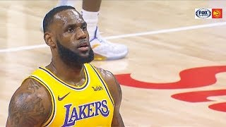 """LeBron James Gets Taunted By """"Kobe Bryant Is Better"""" Chants From Hawks Crowd! Lakers vs Hawks"""