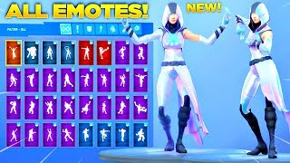 *NEW* GLOW SKIN Showcase with All Fortnite Dances & Emotes! (Samsung Exclusive Skin)