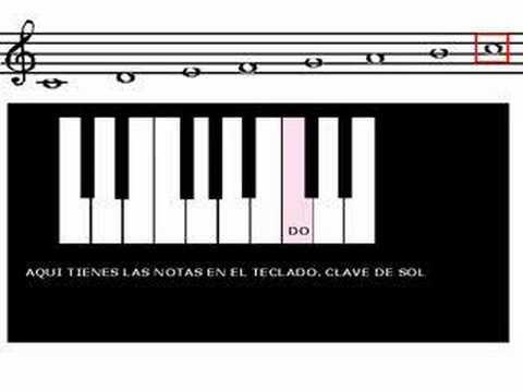 CURSO DE PIANO  - Lección 7 Parte 3 - Teclado piano Clave de sol - G clef