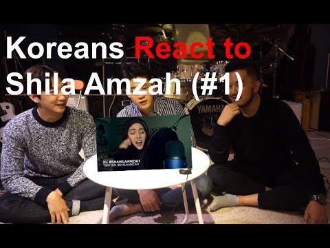 Koreans Guys React to Shila Amzah's