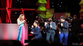 Belinda canta 'Constantemente Mia' con Il Volo - Clip