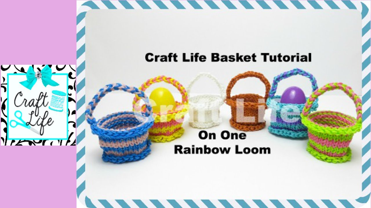 Craft Life Basket Tutorial On One Rainbow Loom - YouTube Rainbow Loom Mini Purse Craft Life