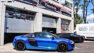 Towie's Dan Osbourne gets his Audi R8 wrapped CHROME BLUE!