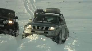 Biggest street legal Ford 350 in Europe 54 inch tires in snow action - Iceland<br />by baddi jezorski on YouTube