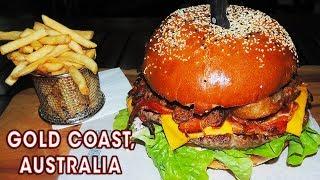 Phat Bastard Burger Challenge w/ Pulled Pork & Onion Rings!!