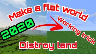 Make a flat world in Minecraft in Android in hindi / clear large area of mine