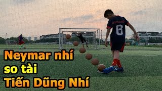 Thử Thách Bóng Đá Duy Trung & Neymar Nhí so tài sút Penalty với thủ môn Bùi Tiến Dũng Nhí Việt Nam