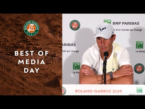 Best of media day with Halep, Nadal, Federer, Thiem and Djokovic | Roland Garros 2019