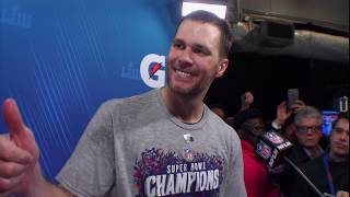 "Tom Brady on Defeating the Rams ""That Was a Great Way to End It"" 