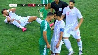 ملخص مباراة العراق وايران 2-1 | مباراة تاريخية | تعليق خالد ...