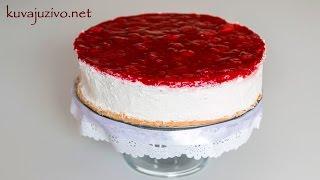 Čizkejk sa jagodama - Strawberry Cheesecake - Video recept