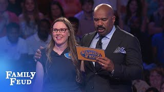 No zeros THIS time! Anna CRUSHES Fast Money!   Family Feud