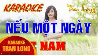 karaoke Nếu một ngày | Tone nam | Tran Long