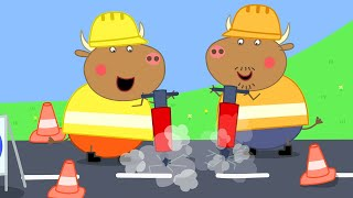 Peppa Pig Full Episodes | Mr Bull's New Road | Cartoons for Children
