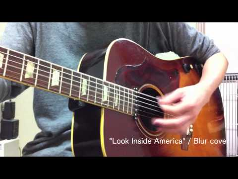 Gibson J-160E Test 1 (Look Inside America / Blur cover)