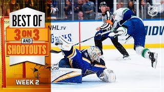 Best of 3-on-3 Overtime and Shootouts | Week 2 | NHL
