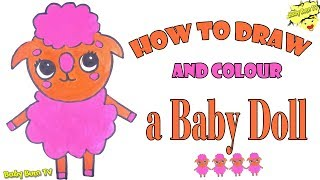 Baby Bum Tv 🌸 How to draw a baby doll 🌸 the little baby bum 🌸 Funny Kids
