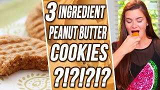 CloeCouture's 3 Ingredient Peanut Butter Cookies?! 3 Items or Less