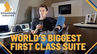 INSANE Singapore Airlines NEW First Class Suite | Biggest in the world