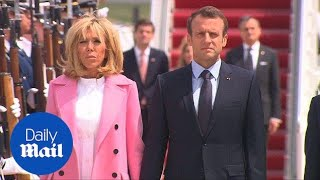 French President Macron and wife arrive for US state visit - Daily Mail