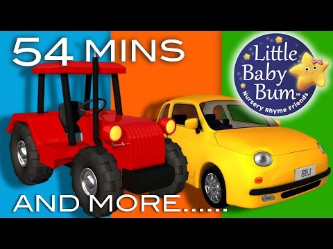 Vehicle Songs! | Buses, Cars, Trains, Boats And More! | Nursery Rhymes | From LittleBabyBum
