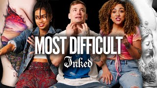 'Where Do I Put My Hands?!' The Most Difficult Body Parts to Tattoo   Tattoo Artists React