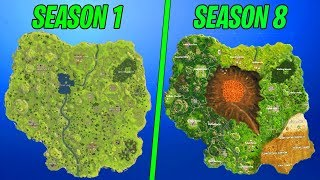 Evolution of the entire Fortnite island (Season 1-8)