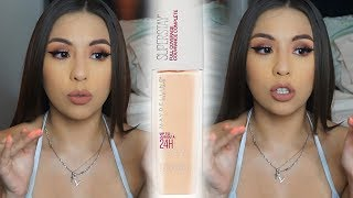 NEW Maybelline Superstay FULL COVERAGE Foundation | 7 Hour Wear Test + Review!