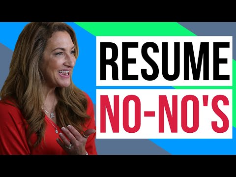 3 Resume No-No's photo