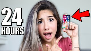 Using The World's SMALLEST iPhone 11 For 24 Hours!!
