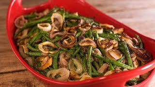 A Green Bean Thanksgiving Casserole with a Healthy Twist