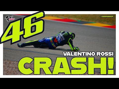 Valentino Rossi crashes during Q1   MotoGP?#GermanGP 2019
