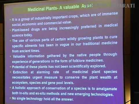 Cultivation Of Medicinal Plants In Waste Landa - Speech Delivered By Dr S D Upadhyay