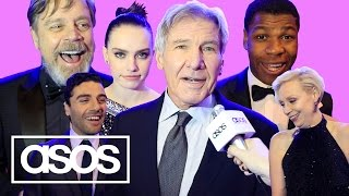 Star Wars cast read terrible Star Wars jokes on the red carpet | ASOS Meets