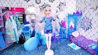Mebelkowo #3 * NOWY POKÓJ ELSY * Dekorowanie pokoju polsku lalkami Disney Princess Morning Routine