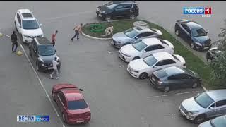 В Омске хулиганы подрались с прохожим, который попросил их быть потише
