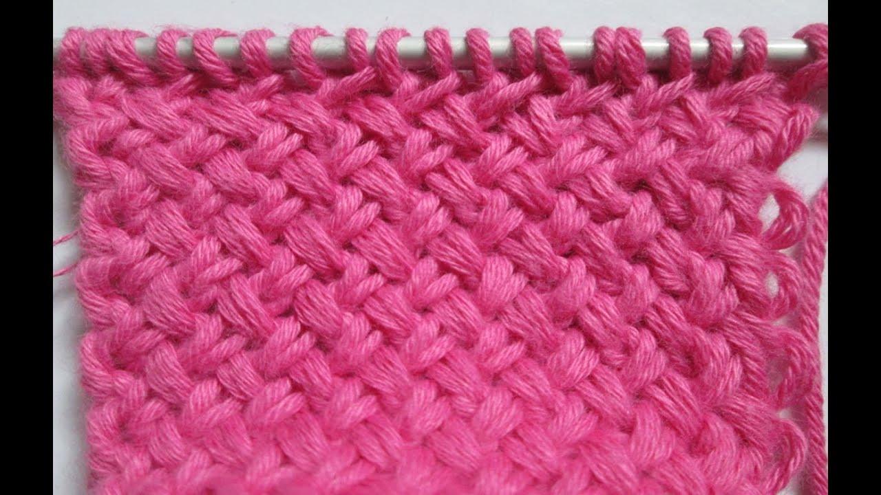 tuto tricot apprendre a tricoter le petit point de vannerie youtube. Black Bedroom Furniture Sets. Home Design Ideas
