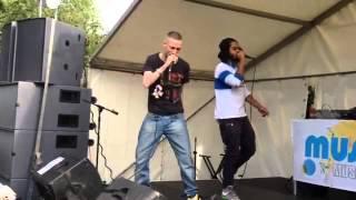 Skinnyman live  @ Music Day UK, Springfield Park 21.06.2015