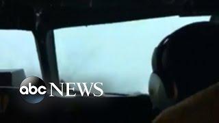Video Taken of Pilots Flying Through Turbulence from Hurricane Matthew