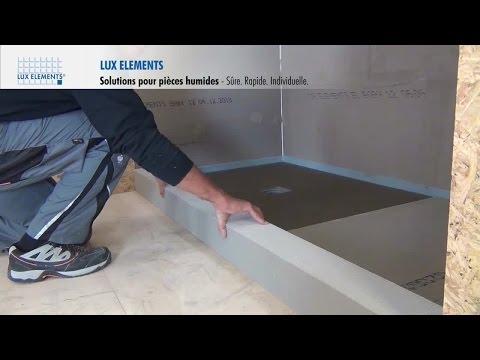 LUX ELEMENTS Montage : Solutions pour pièces humides – Seuils (l'Amérique du Nord)
