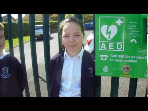 Crockern Primary School Defibrillator Video