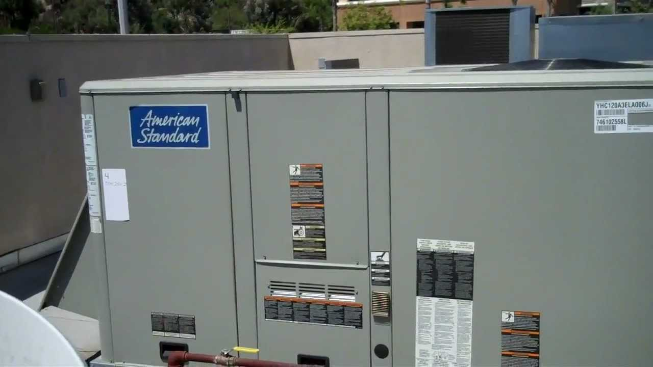 Hvac 5 Ton Iced Up American Standard Trane Package Unit