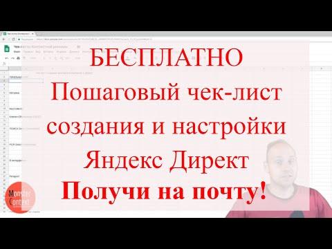 Пошаговый чек-лист создания и настройки рекламной кампании Яндекс Директ
