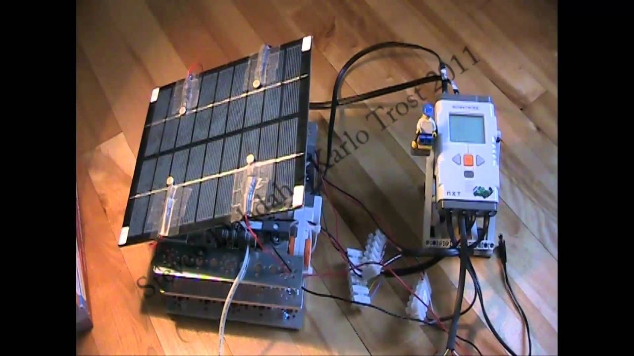 Auto Adjusting Solar Panel Lego Mindstorms Nxt Youtube