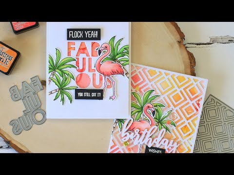 FLOCK YEAH! Alcohol Ink Backgrounds ft. NEW May 2018 Products