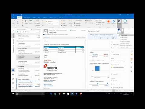 Outlook tips and tricks and Dynamics NAV/ Dynamics 365 for Sales integration