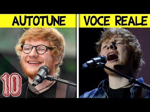 10 Cantanti con la loro Voce Reale VS Autotune