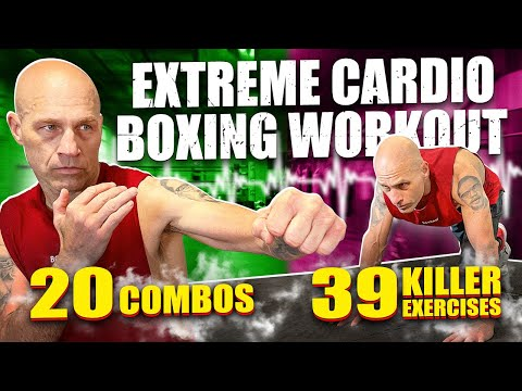Extreme Cardio Boxing Workout || 39 Exercises and 20 Boxing Combos || Burn 1,000 Calories