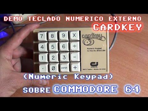 Teclado numérico externo (Numeric Keypad: Cardkey) Commodore 64 Demo de uso real.
