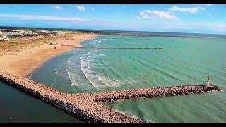 SPOT KITESURF Drone 4k : Port Camargue Plage Sud / Le Grau-du-Roi / Gard / France